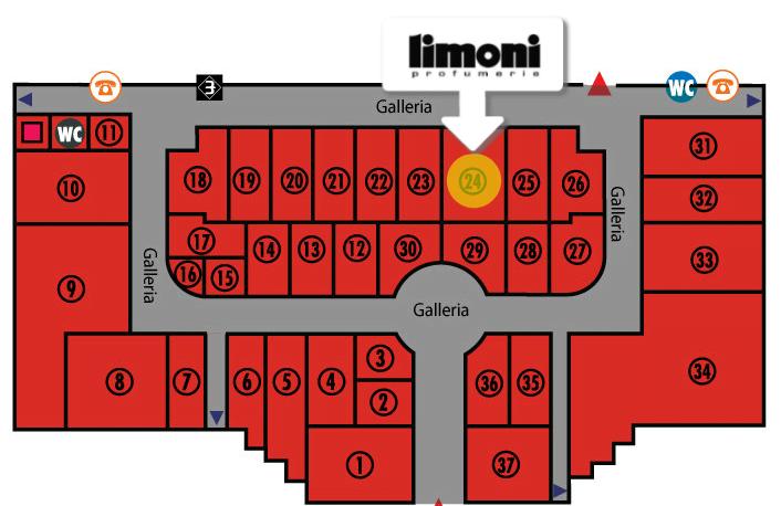 mappa indirizzo negozio profumeria limoni olbia